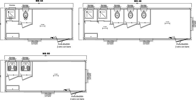 Bagno moderno dwg pianta camera da letto dwg piante in for Arredi spogliatoi dwg