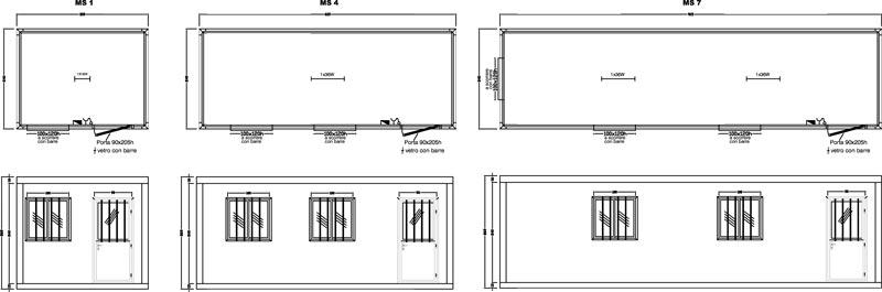 Container standard prefabbricati standard prefabbricati for Dimensioni standard finestre